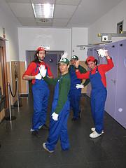 Marios y Luigis en RetroMadrid